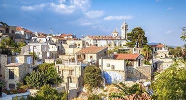 Larnaca , Limassol , Nicosia , Paphos , Troodos , Curium