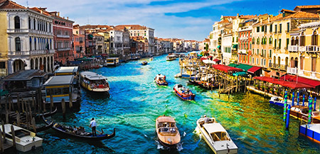 Milão , Pisa , Roma, Veneza, Florença