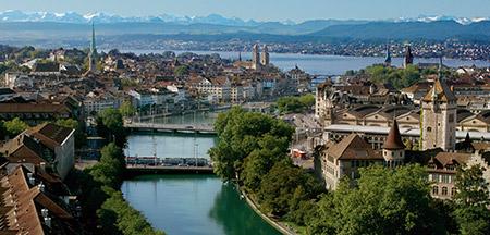 Fluelen , Lugano , St Moritz , Zermatt , Zurique, Bellinzona