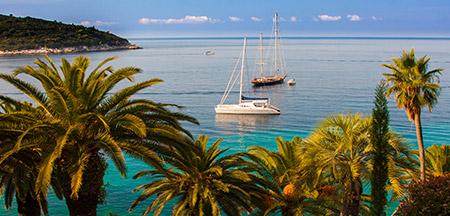 Dubrovnik , Mljet , Korcula , Hvar , Jelsa , Bol , Split , Trogir , Sibenik , Zadar