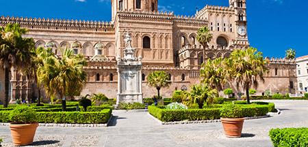 Palermo , Erice , Agrigento , Piazza Armerina , Ragusa , Noto , Siracusa , Taormina